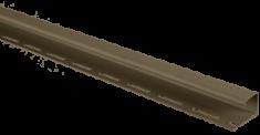 """Сайдинг Планка """"J - trim"""", 3660 мм, цвет Тёмный орех"""