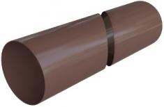 Труба водосточная с муфтой ПВХ 4 м, Элит (цвет коричневый)