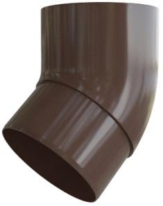 Колено трубы 45° ПВХ Элит (цвет коричневый)